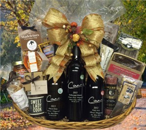 Carr Three Bottle Harvest Party Basket