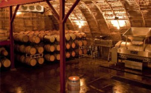 Barrel Room at Carr Winery in Santa Barbara, California