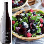 Roasted Beet and Berry Salad with Raspberry-Fig Vinaigrette