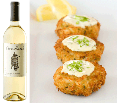 Chardonnay And Crab Cakes