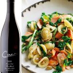 Orecchiette with Salmon, Arugula, and Artichokes