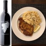 Chicken Milanese with Fettuccine Alfredo Paired with Carr Sangiovese